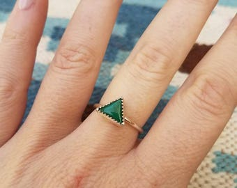 Amazonite Sterling Stacker Ring