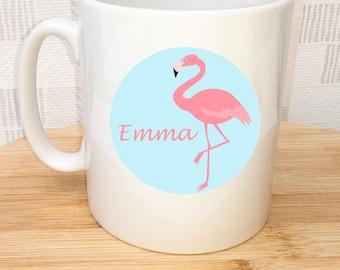 Personalised Flamingo Cup, Flamingo Mug, Personalised Cup, UK