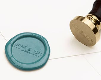 Personalized Wax Seal, Custom Wax Seal Stamp, Wax Seal, Wedding Seal, Custom Wax Sealing, Wedding Invitations, Wedding Stamp (WMONO110)