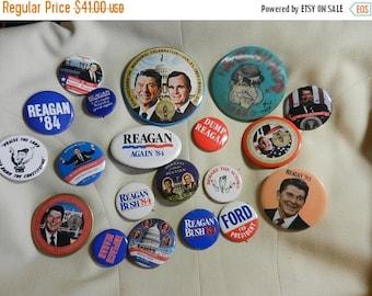 Summer Sale 20 Vintage Political Reagan Campaign Buttons