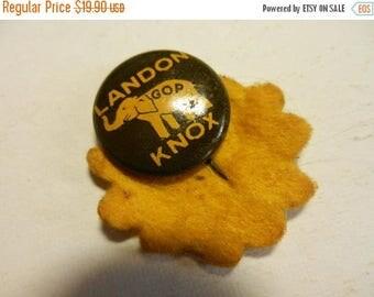 Summer Sale Vintage GOP Landon Knox Ticket Political Campaign button