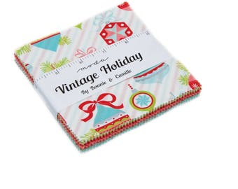 Vintage Holiday Charm Pack by Bonnie and Camille for Moda