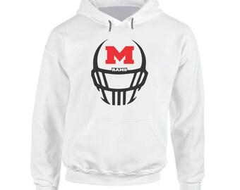 Rams Football Helmet Hoodie