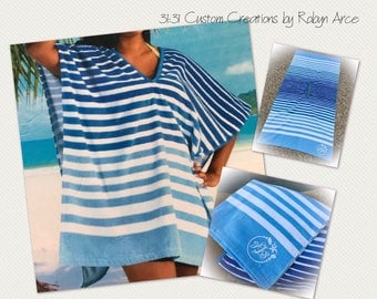Monogrammed Beach Cover Up -Summer Outdoors - Summer Cover up - Monogrammed Swim Cover Up - Monogrammed Beach Towel Cover Up