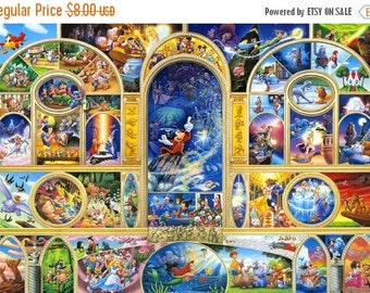 """ON SALE Counted Cross Stitch - Disney world characters - 35.43"""" x 26.57"""" - L882"""