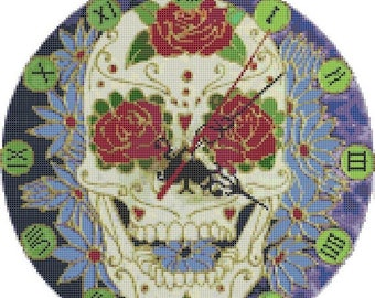 "sugar skull Counted Cross Stitch sugar skull Pattern pdf file ristipisto kuvio needlepoint korss - 11.79"" x 11.86"" - L740"