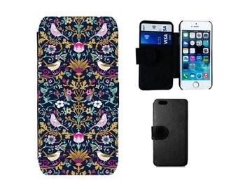 Wallet case iPhone SE 8 7 6S 6 Plus X 5S 5C 5 4S 4, Samsung Galaxy S8 Plus, S7 S6 Edge, S4 S5 Mini, William Morris vintage phone case. F349