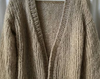 Soft, alpaca and silk or Mohair Cardigan