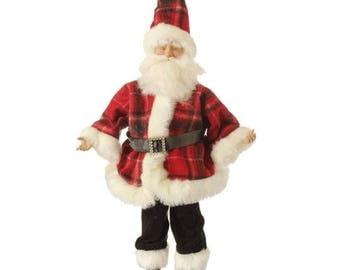 """RAZ IMPORTS 18"""" Tally Ho Ho Ho Santa/ Wreath Supplies/Christmas Decoration/ 3402835"""