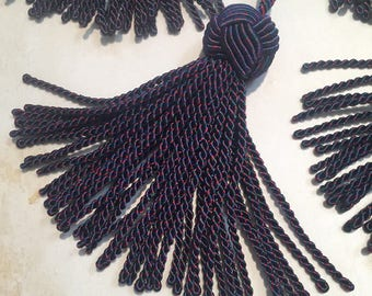 Chinese Knot Blue Multicolor Tassels with Loop-Sold Individually by the piece