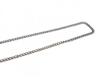 10 m 4x3mm Gunmetal curved link chain
