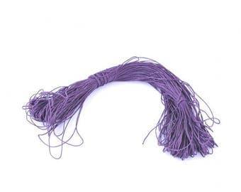 80 m cotton thread cord waxed 1 mm dark purple / Indigo