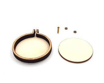 Mini circle 5cm wood hoop
