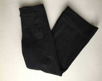 Black Wool 40's Sailor Pants 30 x 30