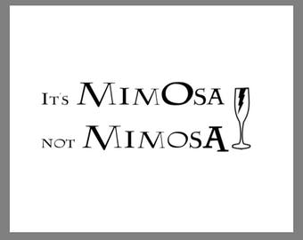 PRINTABLE 8x10 Harry Potter Mimosa SIGN
