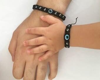 Couple bracelet,Evil eye bracelet,Baby bracelet,Evil eye baby bracelet,Amulet bracelet,Child bracelet,Infant bracelet,Baby shambala,Newborn
