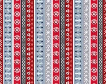 Snow Delightful Fabric Christmas Sweater Nordic Stripe Studio E Cotton Fabric