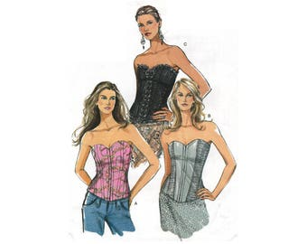 Sewing Pattern – Misses' Corset Top – Vogue V8325 – UNCUT Sewing Pattern – Size F (16, 18, 20)