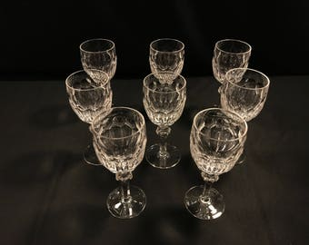 """Waterford Curraghmore Cut Crystal 7 5/8"""" Water Goblet Glass Old Hallmark"""