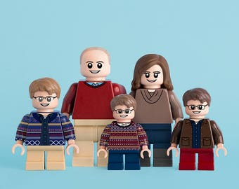 Custom Portrait featuring You/Family/Friends as LEGO minifig(s)
