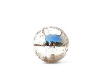 SUMMER SALE Mercury Glass Round Knob
