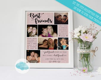PHOTOS REQUIRED Personalised Best Friends Print
