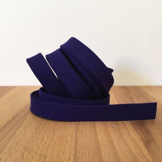 """Bias Tape in Kona Regal cotton 1/2"""" double-fold binding- deep purple-blue- 3 yard roll"""