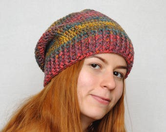 Travel gift Winter Hat Womens hats Slouchy beanie Chunky crochet Slouchy hat Womens Gift Wife gift for wife gift for friend gift for her