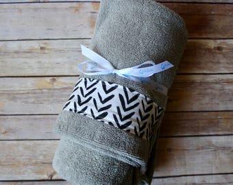 Baby Towel – Monochrome Hooded Bath Towel – Ready to Ship