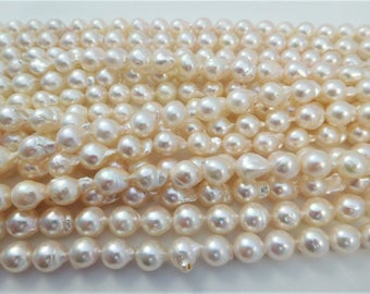 6-7mm Semi-Round/Baroque Akoya Pearl Necklace Strands