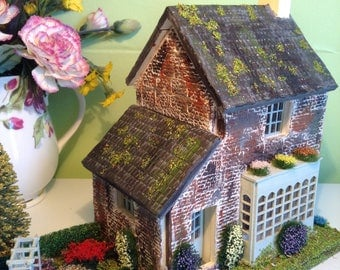1/48, miniature, dolls house, cottage/shop, with garden