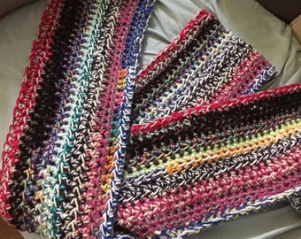 Extra Long Scrap Yarn Scarf