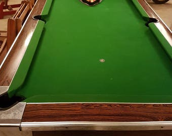 Coin Operated Pool Table Billiard Table SMALL RARE SIZE