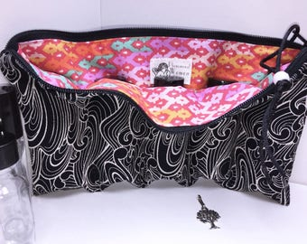 Tula Pink Essential Oil Case, Essential Oil Case, Doterra Oil Pouch, Storage Travel Bag, Free Charm, Essential Oil Purse