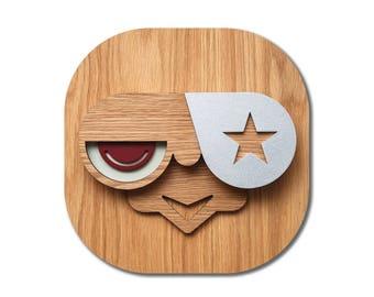 Collage Dorm Decor , Wood Wall Decor , Teen Decor , Urban Art , Comic Wall Art , Pop Art , Star, 3D Wall Art