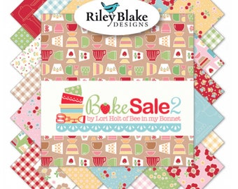 Fat Quarter Bundle Bake Sale 2 by Lori Holt of Bee in My Bonnet for Riley Blake Designs- 33 Fabrics