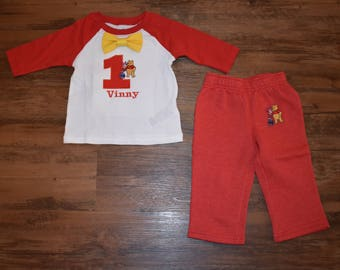 Winnie the Pooh Inspired Birthday Outfit with Pants