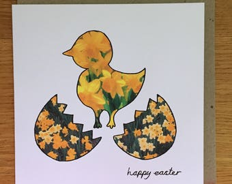 Easter card - easter chick - happy easter card