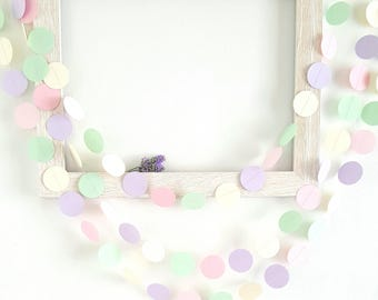 First birthday garland ( 12F ) Unicorn garland,Pick your colors,Pastel color garland,unicorn party  photo back drop,pink and purple garland,