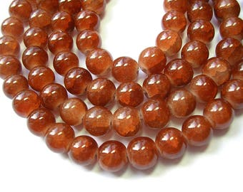 Dollar Beads 8mm brown glass rounds 50 beads