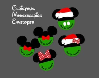 Set of 5 Christmas Mousekeeping Envelopes