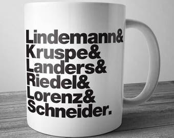Rammstein Rock Band Mug