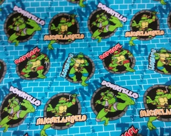 TMNT Fabric By the Yard BTY from 1/4yd, Fat Quarter to Full Yards 100% Cotton for Clothing, Crafts, Quilting Teenage Mutant Ninja Turtles