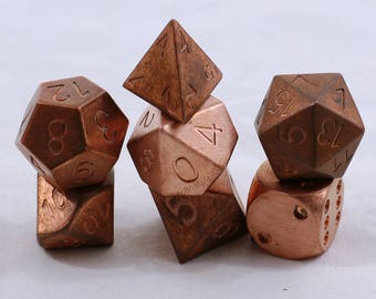 Zucati Dice: - Copper - Pipped D6