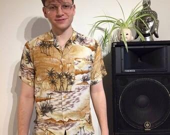 Classic retro style Hawaiian mens shirt