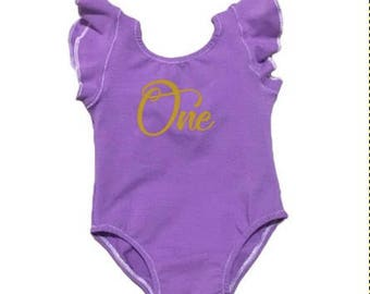 RESERVED- 12M Leo • Lilac • Mid- Back • + SNAPS • Old-gold Glitter One • Purple Cotton Candy - Half Cap Sleeves