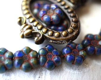 Royal Poppies, Flower Beads, Czech Beads, N1759