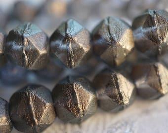 T'wilight Grey Beads, Czech Beads, English Cut Beads, N1679