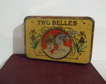 Very Vintage Two Belles Cigar Tin - Free Shipping!!!