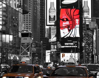 New York Times Square Prints/ Black and white Times Square/ New York photography/New York wall art prints